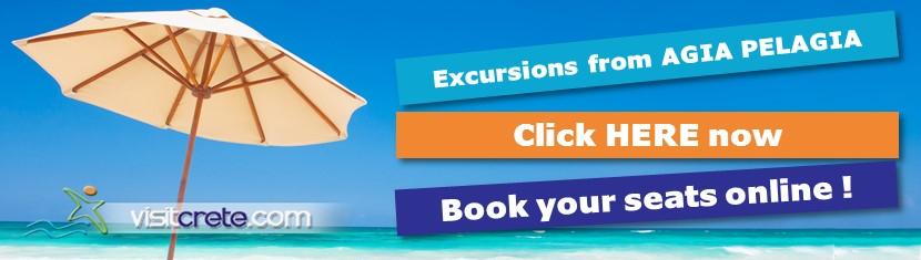 Book online Excursions from Agia Pelagia Heraklion CRETE